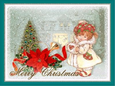 С Рождеством открытка